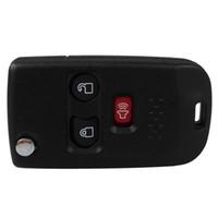 Garantili% 100% 3 Düğmeler Değiştirme Anahtarsız Değiştirmek Çevirme Katlanır Araba Uzaktan Fob Anahtar Shell Kılıf Ford Mercury Için Şal ...