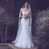 2018 Novo Árabe Cap Mangas Lace Sereia Vestidos de Casamento Tule Applique Até O Chão Vestidos De Noiva Do Casamento