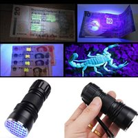 2016 New Purple 400nm 21LED 21 LED UV Ultra Violet Flashligh...