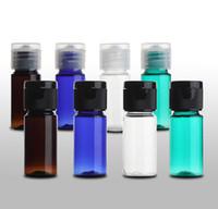 15ml Couleur En Plastique Essence Lotion Bouteille Rechargeable Maquillage Parfum Échantillon Bouteille Voyage Cosmétique Conteneurs 50pcs / lot FZ120