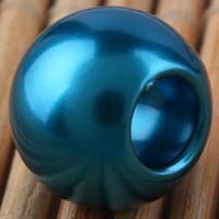 100PCS Bella perla verde PImitation Charms per monili che fanno sciolto europeo grande foro perline acrilico misura braccialetto europeo prezzo basso