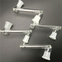 adattatore per vetro 14mm 18mm maschio femmina vetro dropdown adattatore tubi acqua con rettifica bocca di vetro drop down adattatore