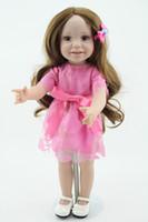 18 inch Handmade Full Vinyl American Girl Silicone Doll Fashion Reborn Baby Toys Chilldren Birthday Gift Valentine's Day Dolls