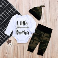 Toddler Baby Boys Sets Little Brother Romper+ Long Pants Legg...