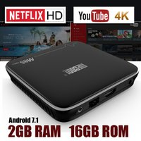 M8S Pro MECOOL Android 7.1 TV Box 2GB 16GB Amlogic S905X Quad Core KD 17.1 Интеллектуальный Youtube 4K Media Player Лучшие боксы лучше X96 Mini S905W