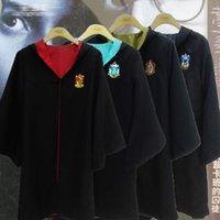 DHL 4 stili Per Bambini adulto Grifondoro Mantello Abito Mantello Costume Regalo di Halloween Grifondoro Cape Harry Potter Costume cosplay E1082