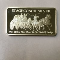100 pezzi non magnetici La barretta antiaderente nucleo in ottone placcato argento moneta 50 mm x 28 mm moneta di lingottiere decoraiton souvenir