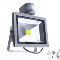 IP65 wasserdicht 10W 20W 30W 50W LED Flutlicht Außenbeleuchtung Projekt Lampe LED Flutlicht 85-265V PIR Bewegungsmelder Sensor