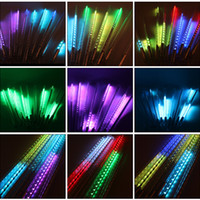 led christmas xmas lights 10pcs set 30cm 50cm 80cm snowfall tube meteor shower rain tube led string light christmas lights outdoor - Snowfall Christmas Lights