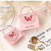 50pcs / lot 나비 장식 결혼식과 함께 새로운 빈티지 웨딩 캔디 상자 holders 선물 상자 사탕 가방