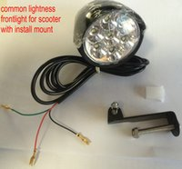 36V48V Universal-LED-Lampe Frontlampe Frontlampe mit Hornschalter für elektrische Roller-Faltrad-Bike MTB Ebike-Konvertierungsteil