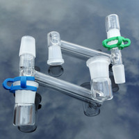 Commercio all'ingrosso nuovo adattatore a discesa in vetro con adattatore di recupero e keck clip 2 maschio 1 giunto femminile 14,4mm 18.8mm a discesa in vetro