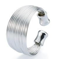 Venta al por mayor directa de fábrica al por mayor de joyería de alta calidad 925 anillo de plata esterlina 28 líneas anillo ajustable anillo de moda pareja