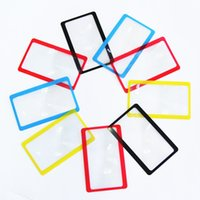 Al por mayor-3X Nuevo Mini tamaño de aumento para la lupa de bolsillo Magnifying Wallet Clip Card Loupe Lens Watch Repair Tool