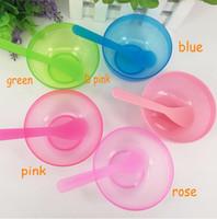 Пластик 2 в 1 Макияж Красота Маска Чаши 5 Цветов Маска Для Лица Чаша DIY Инструменты для Масок Для Лица