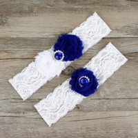 Two Pieces / Set High Quality Bridal Garter Belts With Lace Chiffon Flower Beads Real Photos Wedding Garters #BW-G006