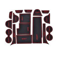마즈다 CX-7의 16pcs 미끄럼 고무 실내 자동차 도어 팔걸이 저장 패널 매트 컵 홀더 슬롯 패드 커버 스티커