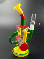 Colorful Dab Rigs Rainbow Heady Glass Water Pipes Recycler R...