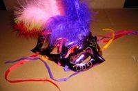 光髪のマスクゴールドパウダーマスクフラッシュフェザーマスク61ダンスマスクは混合バッチになることができます