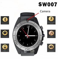 SW007 Smartwatch Bluetooth Smart Watch con supporto per fotocamera SIM Card Call Promemoria Round Face Screen Smartwatch per Android MOBILE PHONE