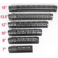 7/9/10/12/13.5/15 Inch Ultralight KeyMod Free Float Handguard Monothilic top rail Steel barrel nut Fit.223/5.56