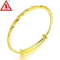 24K Gold Filled Bangles New Style Party For Women Men Luxury...