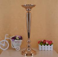 Die Hochzeit Prop Pfad Tabelle Vase Gold Plating Karotte Spalte europäischen Stil Blume Ware Bühne Master WQ15
