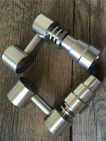 Universal Domeless Titanium Nail 4 IN 1 14mm 18mm Doppelfunktion GR2 Wachsöl Wasserpfeife Wasserpfeifen Bong Asche Tupfen Rigs