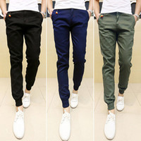Wholesale- 2016 New Mens Skinny Joggers Chinos Slim Pants Men...