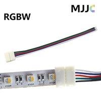 12W RGBW RGB 스트립 라이트 커넥터 12V 24V 5 핀 15cm 22AWG # 와이어 한쪽에