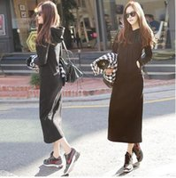 Maxi dress black uk hoodie