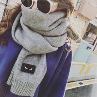chal 2017 otoño e invierno nuevo color puro imitación de la cachemira de la bufanda de la señora de la bufanda calor moda