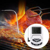 Digital LCD Clock Triple Timer Alarm Probe Thermometer BBQ K...