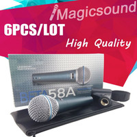 도매 6PCS 직업적인 고전적인 작풍 BETA58는 유선 단계 소형 휴대용 가라오케 다이나믹 마이크 BETA58를 유