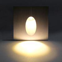 Kare LED Gömme Işık Duvar Lambası Dekorasyon Bodrum Ampul Porch Yolu Adım Merdiven Aydınlatma Footlight WL7418