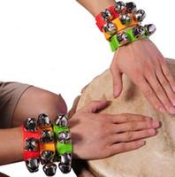 Carnival Party Noise Maker braccialetto cinturino a percussione campane bambino educazione giocattoli danza sonaglio campane per adulti bambini vacanza puntelli regalo