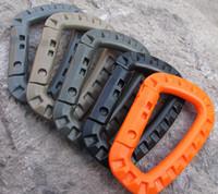 D الشكل 200LB تسلق الجبال إبزيم التقط مقطع من البلاستيك الصلب تسلق EDC الظهر الإبزيم هوك حلقة تسلق D الدائري قفل رخوة التكتيكي خاصية حجم