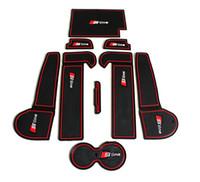 Accessoires de voiture de tapis de tasse de tapis antidérapant de caoutchouc de tapis de fente de porte de qualité pour Audi A6 C6 (2005-2011)