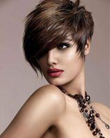 Xiu Zhi Mei Vente Chaude De Haute Qualité Pelucas Pelo Naturel Multi Brun Perruque Courte Résistant À La Chaleur Synthétique Synthétique Puffy Afro Américain Cheveux Pour Les Femmes