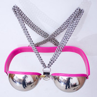 Female Sexy Stainless Steel Bra Chastity Belt Device Bondage...
