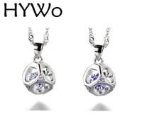 HYWo (без цепи) мужская / женская любителей подарки стерлингового серебра 925 ожерелье любовь куб ГИПОАЛЛЕРГЕННЫЙ ювелирные изделия