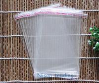小売8 * 12cmの自己粘着シールOpp Bag-1000PCS /ロット再利用可能なセルフシールプラスチック製のポーチ、名刺パッキングポリ袋送料無料、Suger Sack