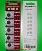 200packs batteria dell'orologio pile a bottone CR1225 al litio da 3V batterie a moneta 5pcs per carta della bolla