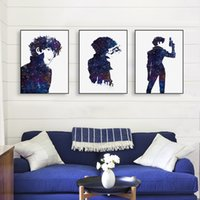 Moderno Acuarela Minimalista Lienzo A4 Art Print Poster Anime Japonés Cowboy Bebop Pared Pictures Home Decor Pinturas Sin Marco