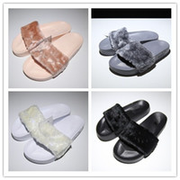 Wholesale RIHANNA FENTY Slippers Rihanna LEADCAT Fenty Fur s...