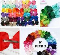 6 zoll einfarbig baby haarbögen mit klumpen 30colors set von 50 stücke extra große haarbogen bowandfant