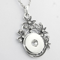 Wholesale- Boom Life Crystal 18mm metal snap button pendant ...