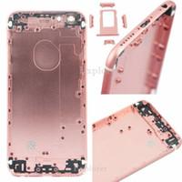 1 sztuk / partia Pełna tylna bateria drzwi pokrywa obudowa dla iPhone 6s plus 5,5 4,7 cal Różowy Różowe Złoto Części zamienne