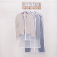 100 piezas de tela a prueba de polvo organizador de prendas de vestir traje chaqueta de vestir ropa protector bolsa de viaje bolsa de almacenamiento con cremallera al por mayor ZA0859