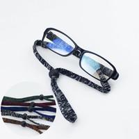 20 Adet / grup Açık Spor Ayarlanabilir Gözlükler Esnek Kaymaz Gözlük Gözlük Zinciri Dize Halat 5 Renkler Ücretsiz Kargo